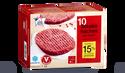 10 steaks hachés, 15% M.G maximum