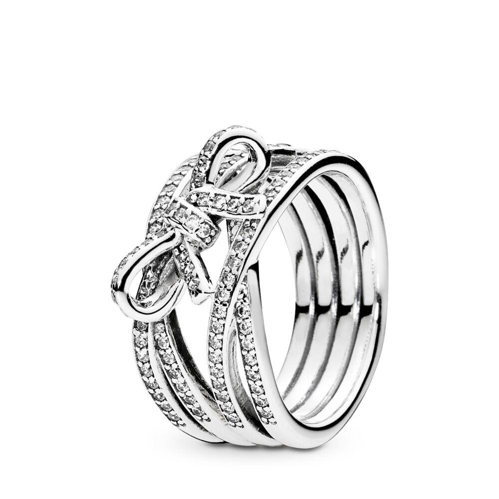 anello pandora fiocco con perla