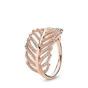 Funkelnde Feder Ring