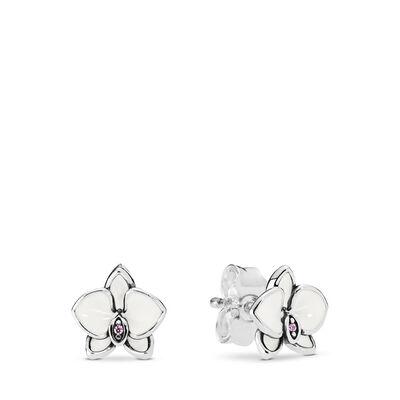 White Orchids Stud Earrings