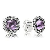 Sparkling Amethyst Stud Earrings