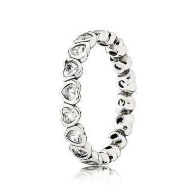 Sparkling Heart Stacking Ring