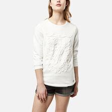 Lace Detail Crew Sweatshirt