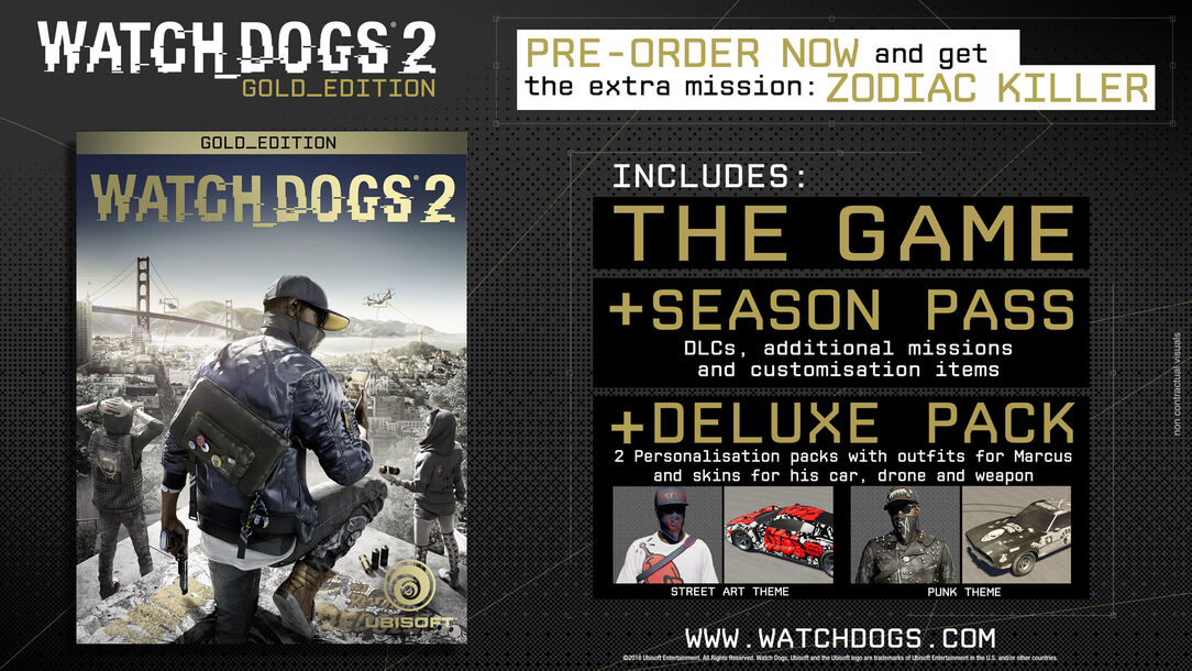 Watch Dogs 2 Official Playstation Store Pre Order: Buy Watch Dogs 2 Gold Edition