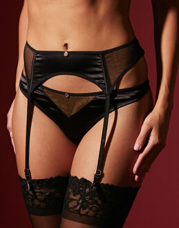 Scantilly by Curvy Kate Peek-A-Boo Suspender Belt