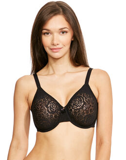 Wacoal Halo Lace Non Padded Moulded U/wire Bra