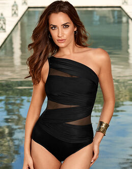 Miraclesuit Black Network Jena Firm Control Swimsuit