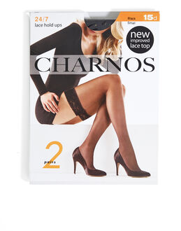 Charnos Hosiery 15 Denier 2 Pack Lace Top Hold Ups