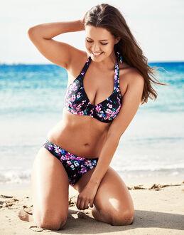 figleaves Dahlia Underwired Halter Bikini Floral Top