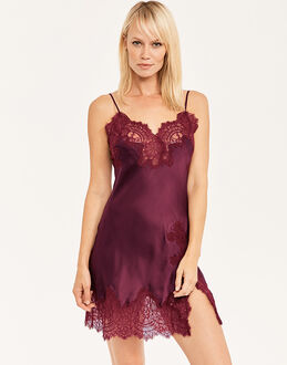 figleaves Sophia Silk and Lace Chemise