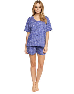 Yawn Smooth Cotton Sateen Shorts PJ Set