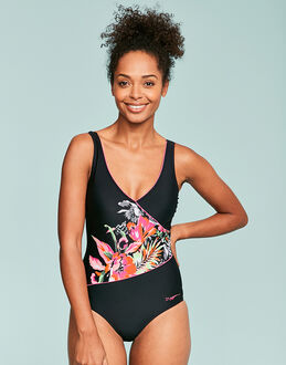 Zoggs Latino Love Wrap Front Swimsuit
