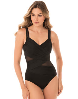 Miraclesuit Black Network Madero Firm Control Swimsuit