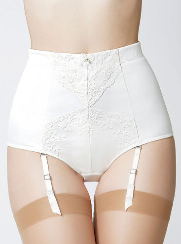 Angelina satin high waisted briefs