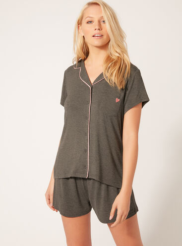 Heart short pyjama set