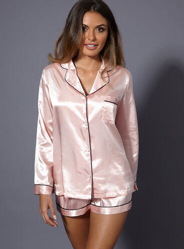 Short satin pyjama set