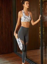 Activewear printed crop top