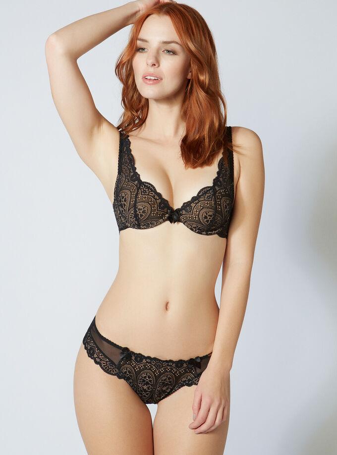 756b6c354b Tori lace plunge bra. Model wears size 32C