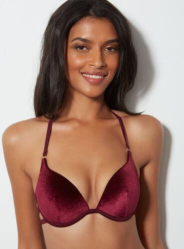 Velvet bikini top