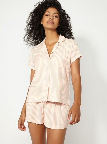 Stripe short pyjama set