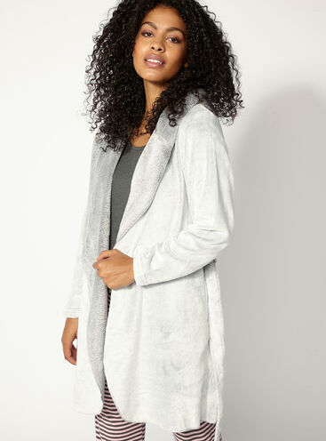 Hooded waterfall robe
