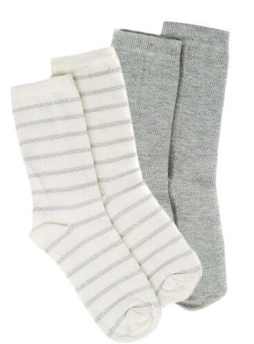 Stripe/stud 2 pack ankle socks