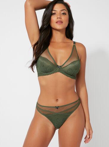 Brooke lace high-waisted thong