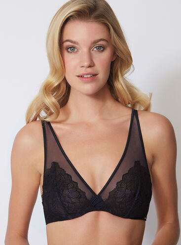 Natasha high apex non-padded bra