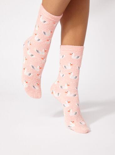 Swan chenille socks